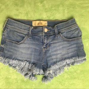 Hollister Low Rise Short Short Jean Shorts Cutoff